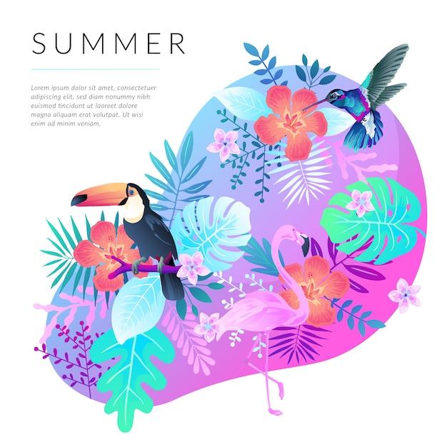 Summer background Premium Vector