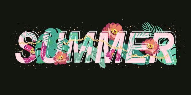 Summer banner design vector Premium Vector