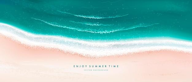 여름 해변 배경 프리미엄 벡터