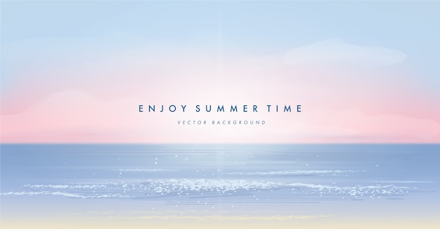 Summer beach background Premium Vector