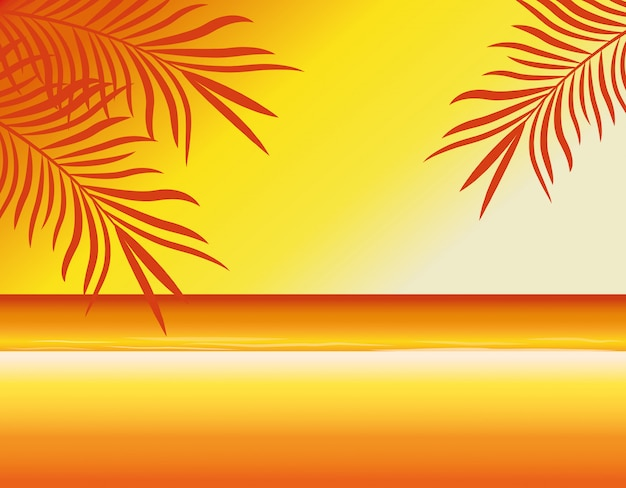 Summer and beach blur background Free Vector