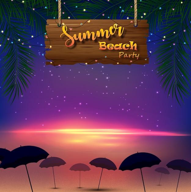 Summer beach party Premium Vector
