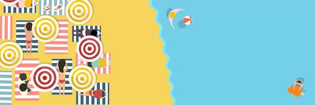 Летний пляжный отдых Бесплатные векторы