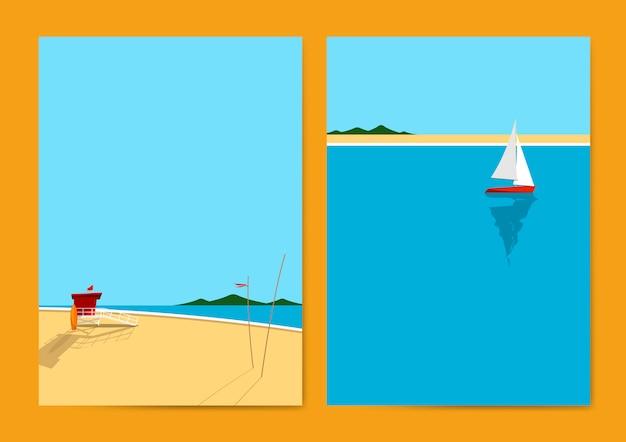 Summer beach Free Vector