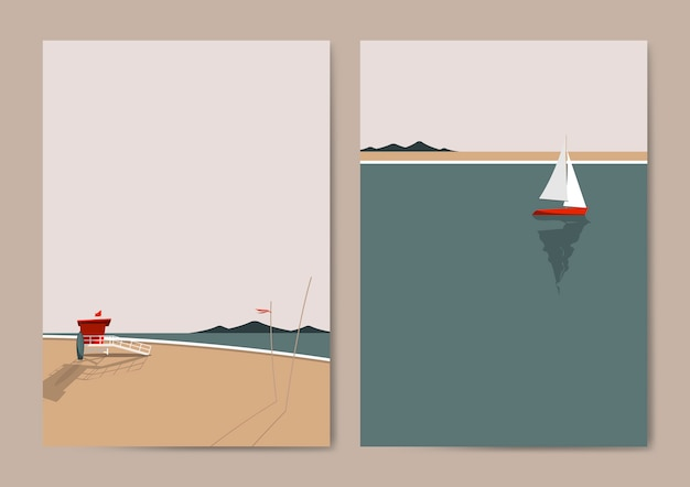 Summer beach Free Vector