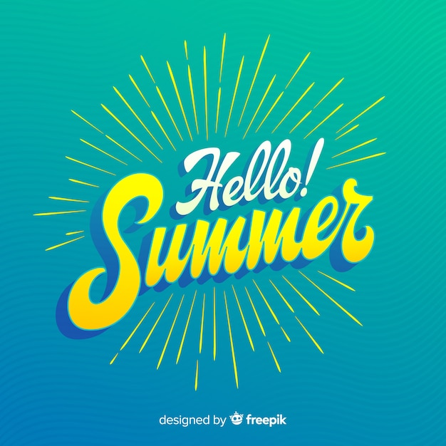 Summer calligraphic background Free Vector
