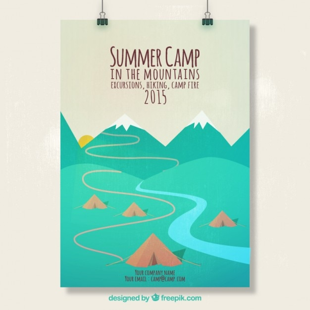 Summer Camp Poster Vector Free Download
