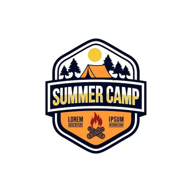 Summer camp vintage stock images Premium Vector