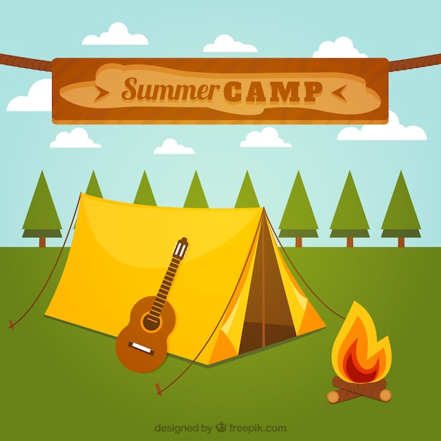 Summer camp Vector | Free Download