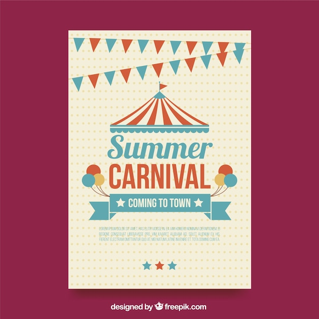 summer carnival poster vector free download