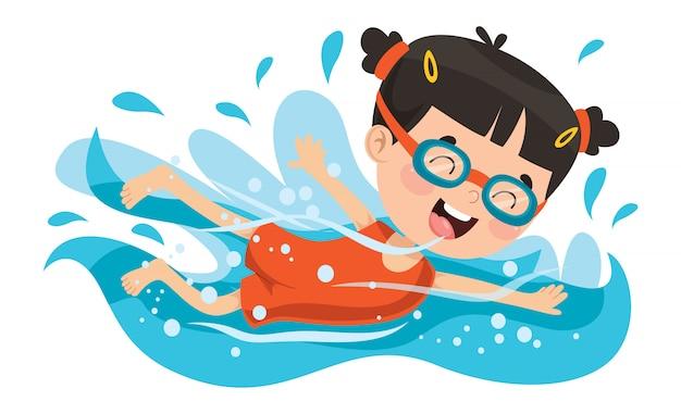 Summer children Premium Vector