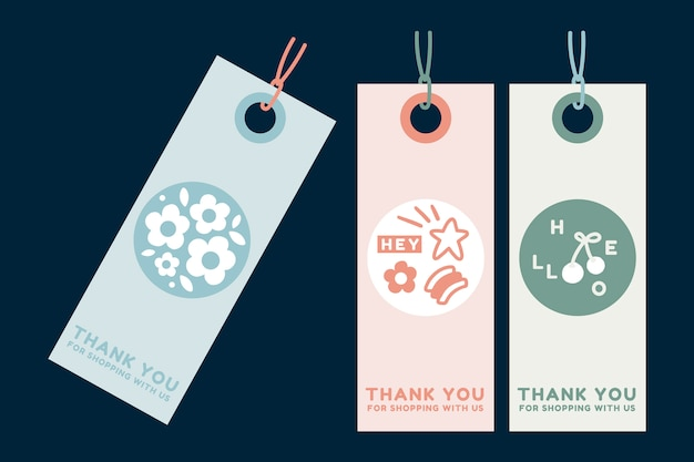 Summer clothing tags Free Vector