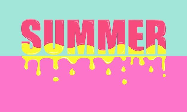 Summer - colorful banner. Premium Vector