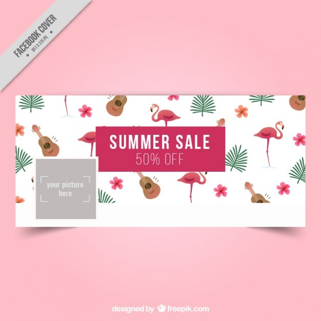 Summer Cover Design Free Vector