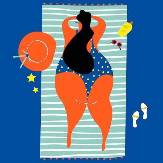 Летние дни на пляже Бесплатные векторы