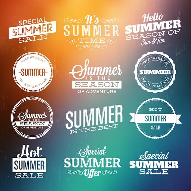 Summer design elements Free Vector