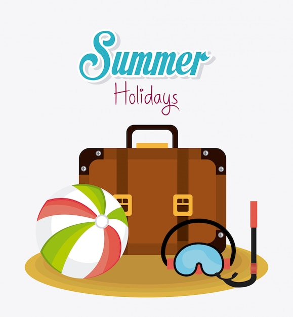 Summer design. Free Vector