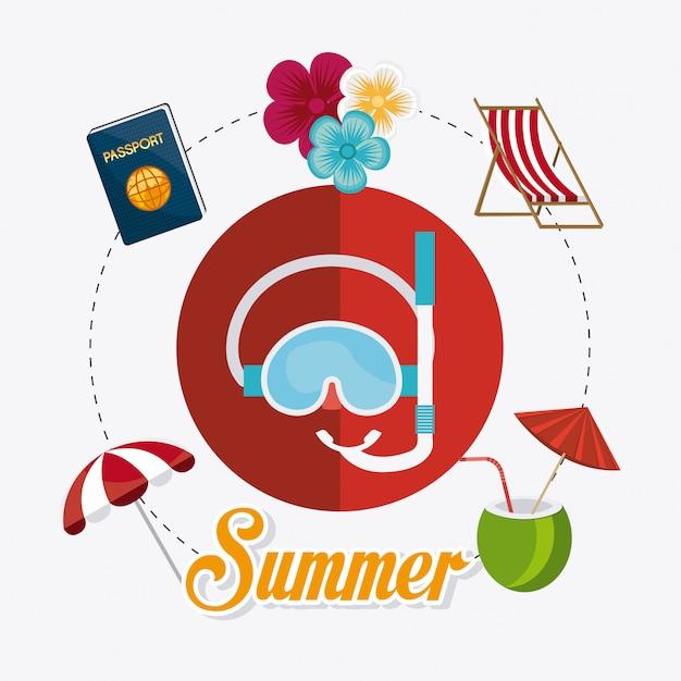 Summer design. Free Vector