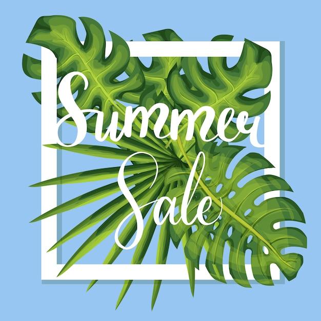 Summer discount vector template Premium Vector