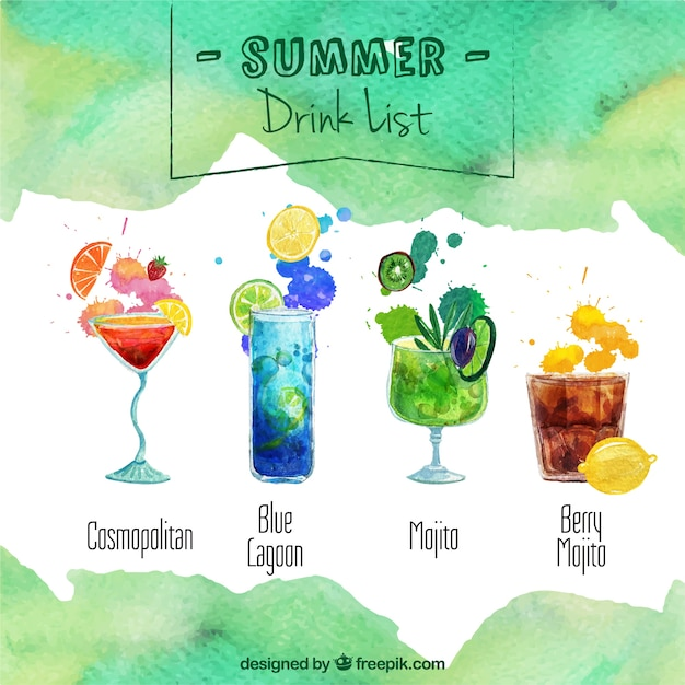 Summer drink list