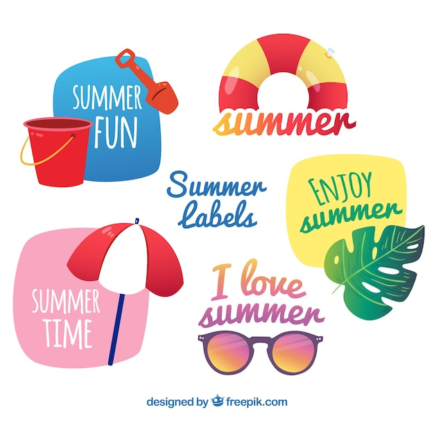 Summer element stickers