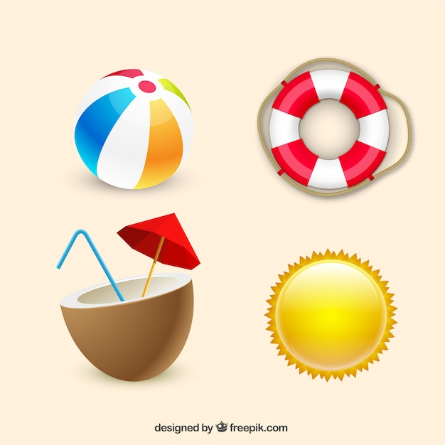 Summer essentials Free Vector