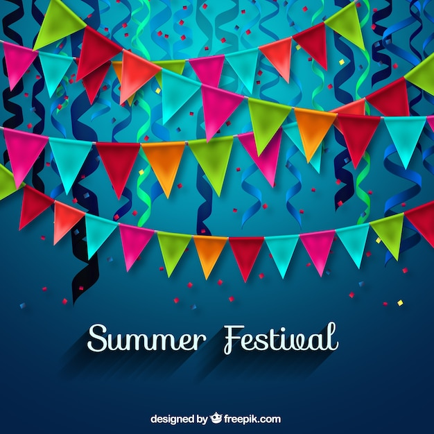 Summer festival decoration Vector