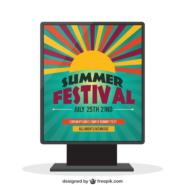 Summer festival poster Vector | Free Download