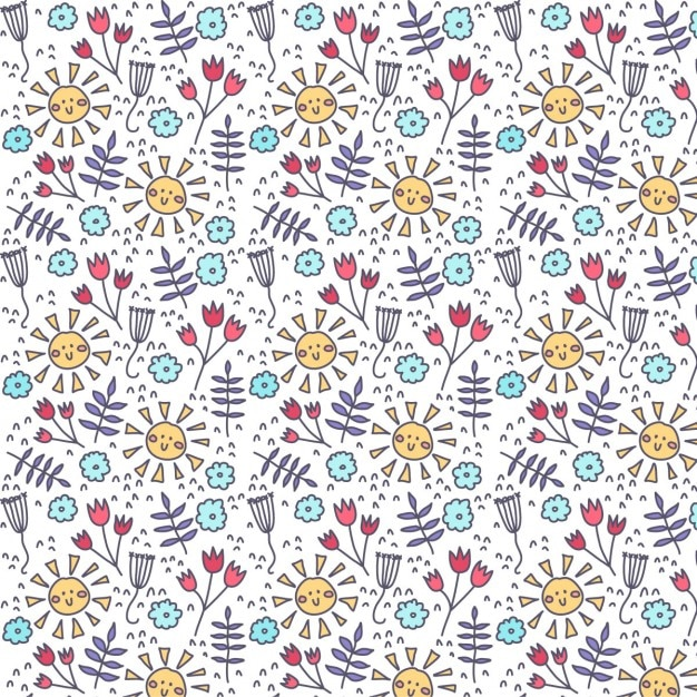 Summer floral background Free Vector