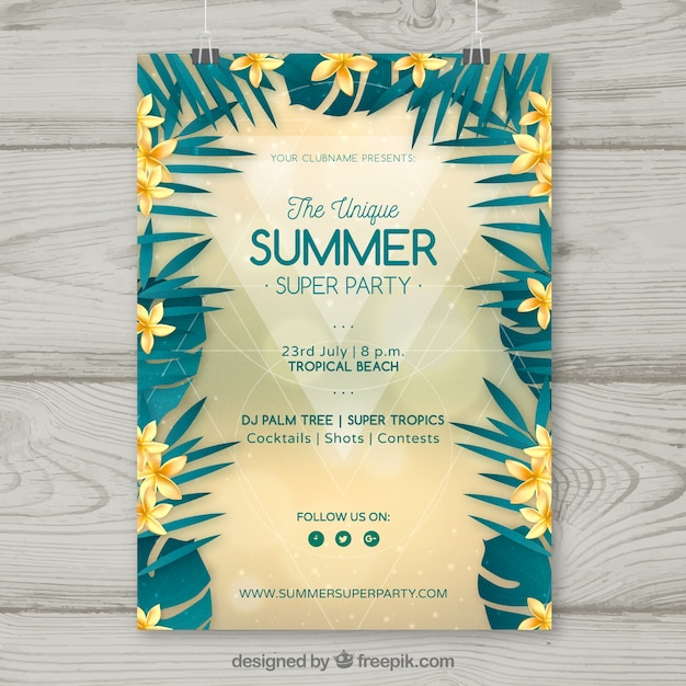 Summer flyer template vector free download summer flyer template free vector saigontimesfo