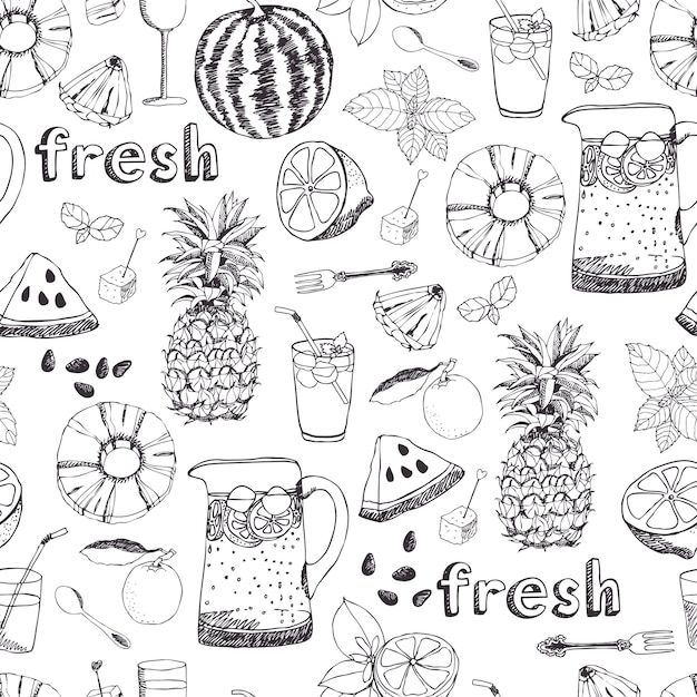 Summer freshness background Free Vector