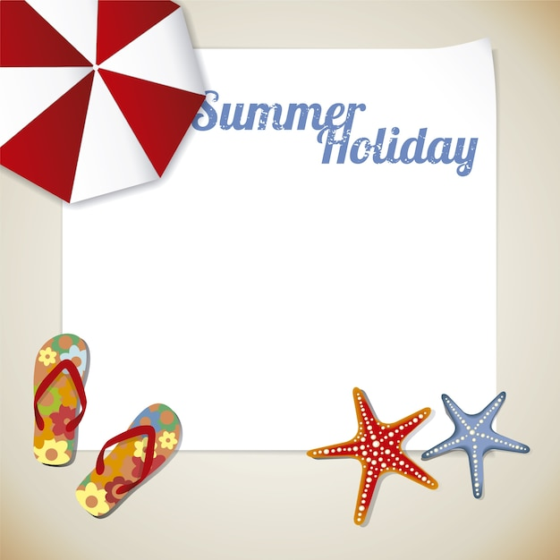 Summer holiday template