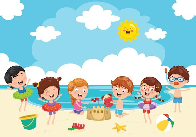 Summer holiday Premium Vector