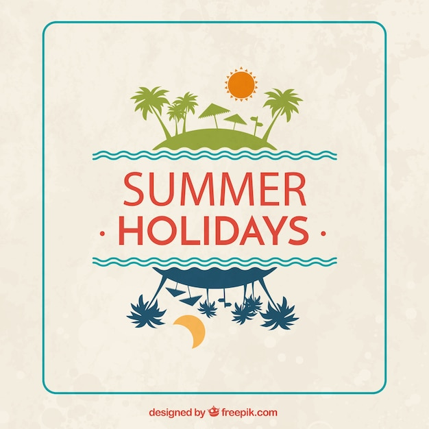summer holidays background free vector - Holiday Pictures To Download