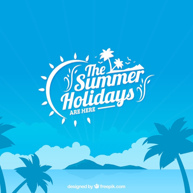 The summer holidays background Free Vector