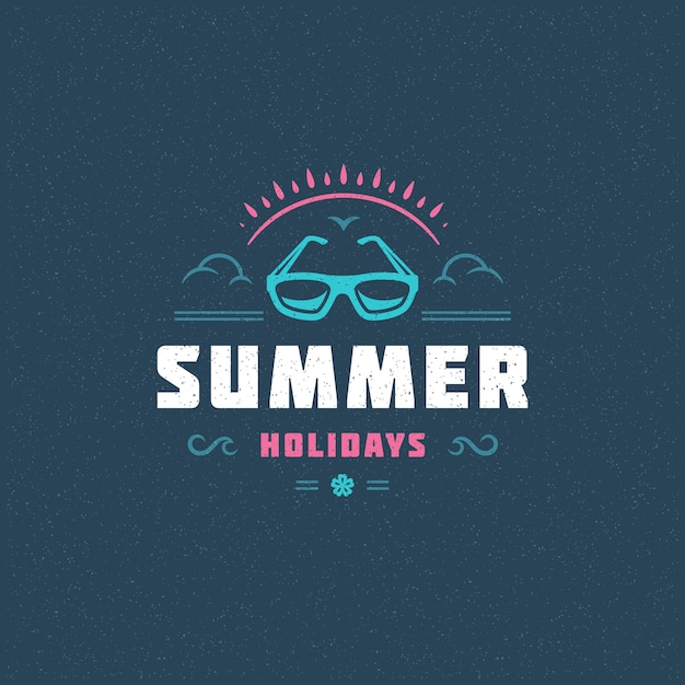 Summer holidays typography slogan Premium Vector