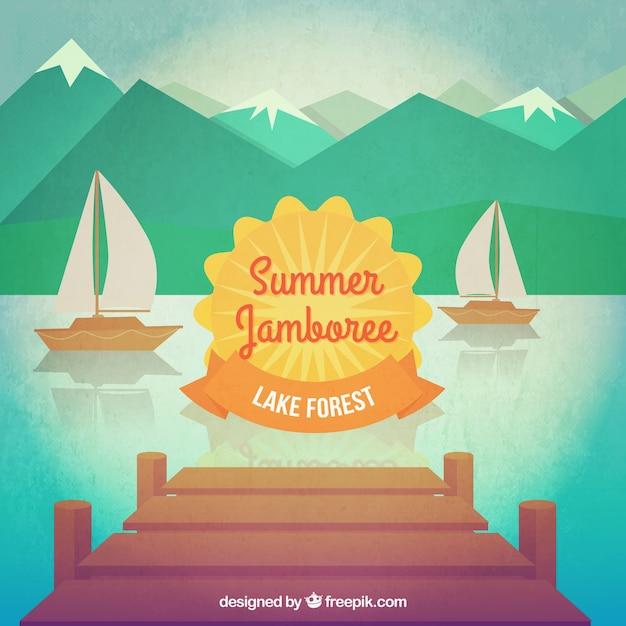 Summer jamboree Free Vector