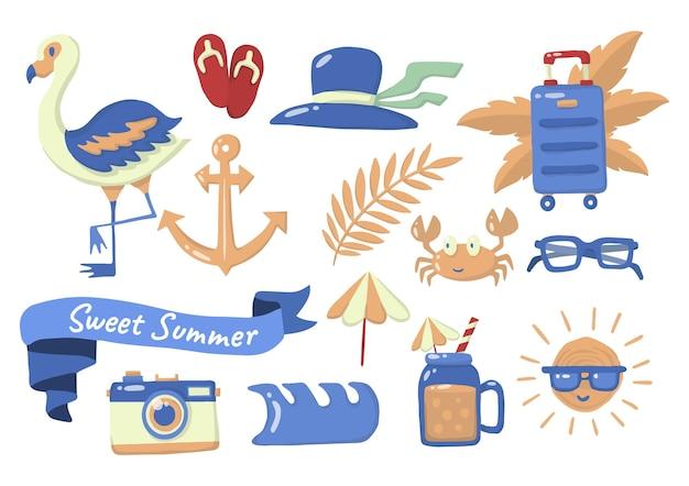 Летняя этикетка с логотипом Premium векторы