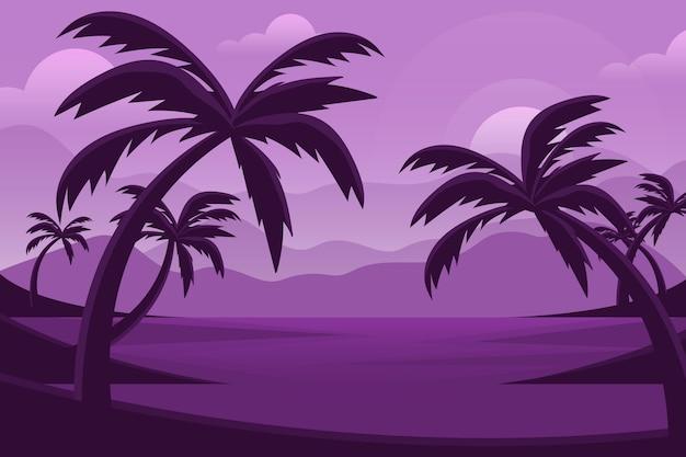Летний пейзаж - фон для увеличения Бесплатные векторы