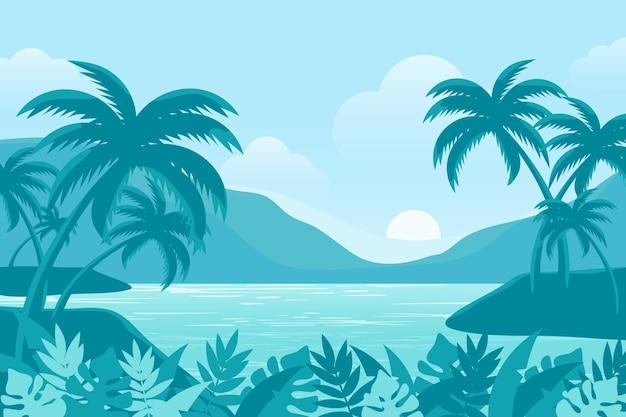 夏の風景-ズームの背景 無料ベクター