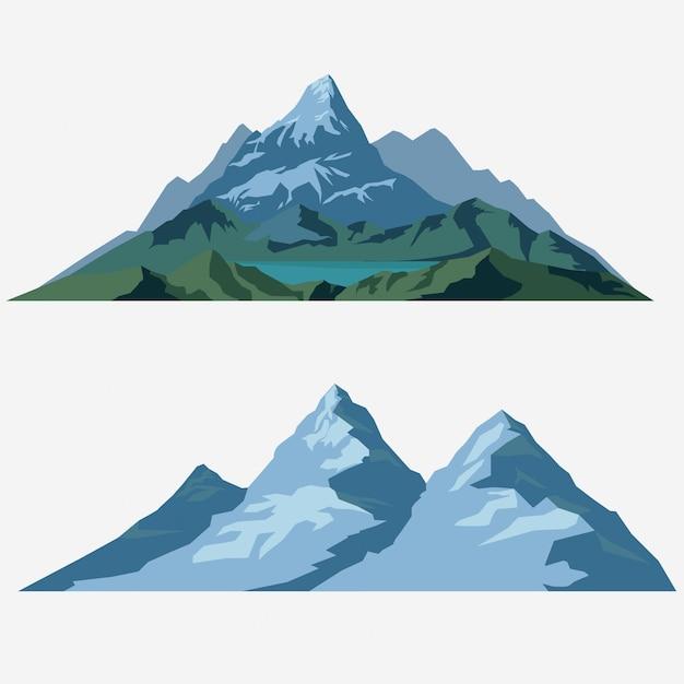 Summer landscape illustration Premium Vector