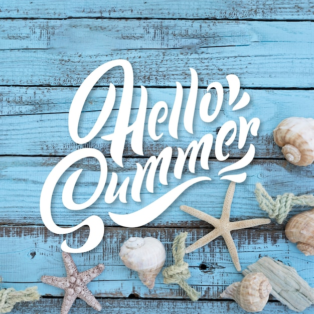 Summer lettering background concept Free Vector