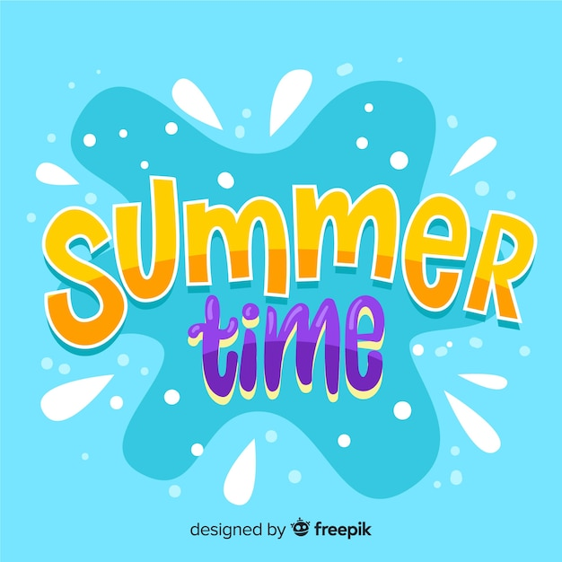 Summer lettering background Free Vector
