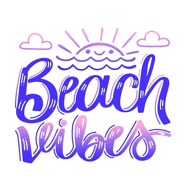 Summer lettering concept Free Vector