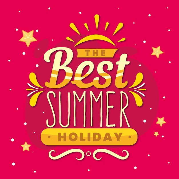 Summer lettering message concept Free Vector