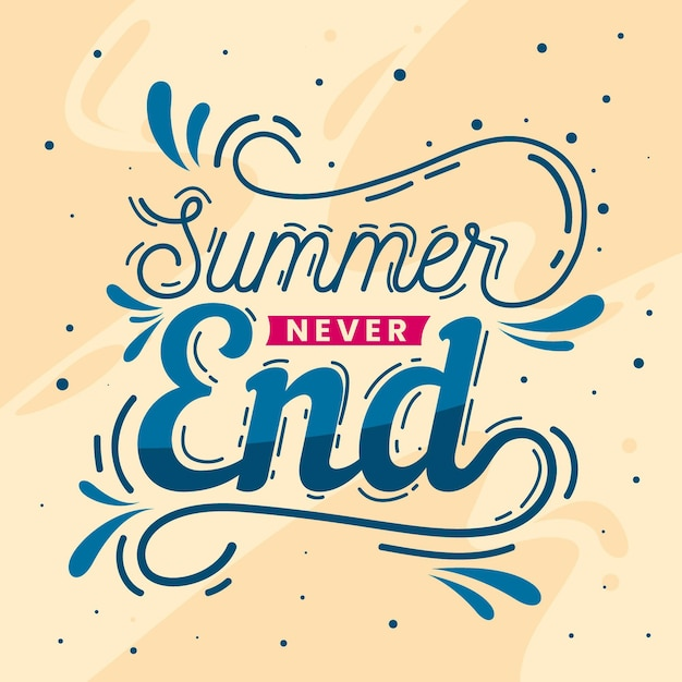 Summer lettering message Free Vector