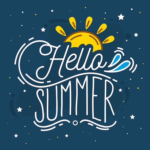 Summer lettering quote style Free Vector