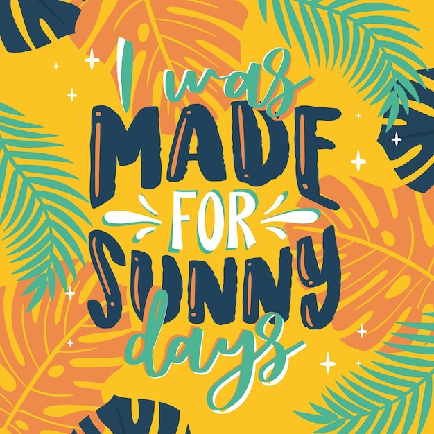 Summer lettering quote Free Vector