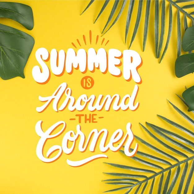 Summer lettering style Free Vector