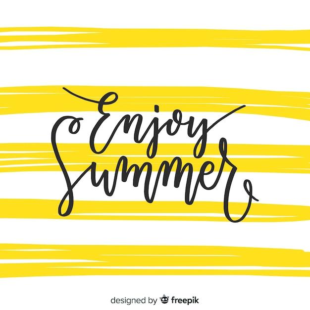 Summer lettering Free Vector